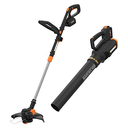 %36 OFF! WORX WG930.1 WG930 20V 10 Cordless String Trimmer & Turbine, 2 hi-Capacity 4.0Ah Batteries...