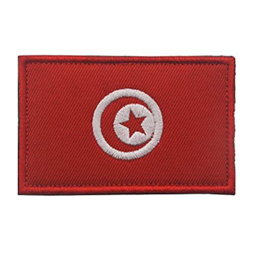 Aufnäher, Tunesien-Flagge, bestickt, militärisch, taktisch, Moral Patch (Tunesien)