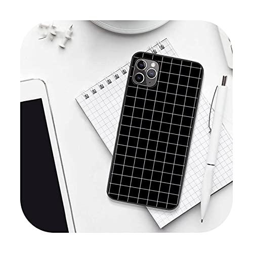 Caja del teléfono de la rejilla de la historieta de la manera de lujo para el iPhone 7 8 11 12 Pro X XS XR para Samsung A S 6 7 9plus 10plus 21s 71-a11-samsung A21s