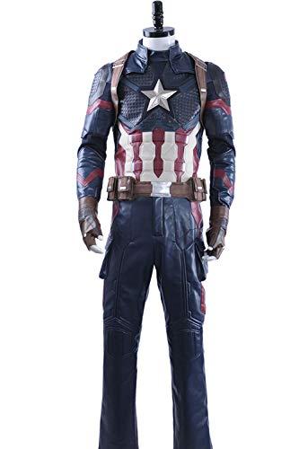 Cosplayfly Captain America Steve Roger Oxford Stoff Cosplay Halloween Karneval Kostüm Herren XL