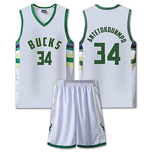 Ordioy Maglia da Basket NBA da Uomo, Maglia Milwaukee Bucks NBA 7# Giannis Antetokounmpo, Fantastica Maglietta Swingman in Jersey da Tifoso Traspirante,Bianca,5XL