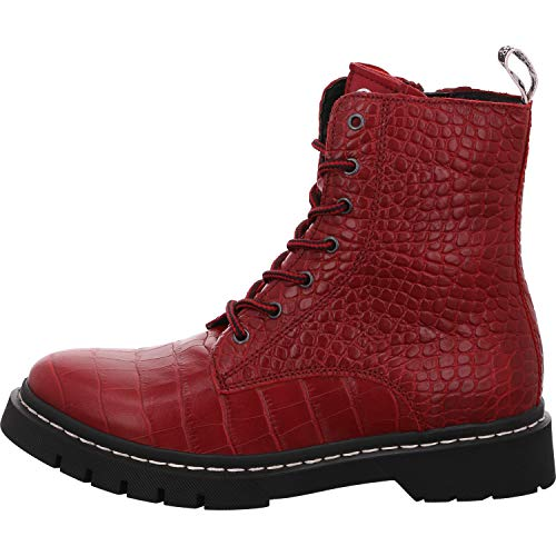 Tamaris Damen 1-1-25865-25 Kniehohe Stiefel, rot, 39 EU