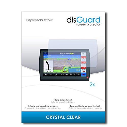disGuard® Displayschutzfolie [Crystal Clear] kompatibel mit Falk Neo 620 LMU [2 Stück] Kristallklar, Transparent, Unsichtbar, Extrem Kratzfest, Anti-Fingerabdruck - Panzerglas Folie, Schutzfolie