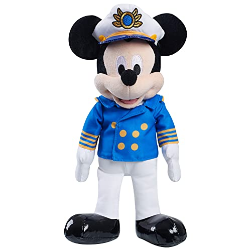 Just Play Disney Classics Captain Mickey Mouse 13-inch Plush, Disney Cruise Line Kids Toys, Stuffed Animal, Mouse