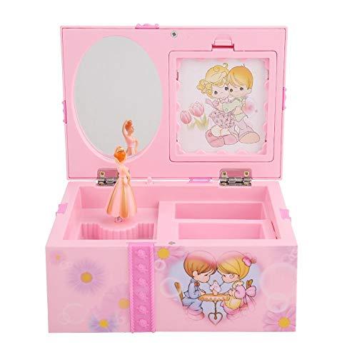 Musikalische Schmuckschatulle Kunststoff Quadrat Cartoon Spieluhr Schmuck Aufbewahrungskoffer Tanzen Prinzessin Spieluhr Beste Geschenk für Mädchen