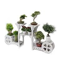 植物スタンド無垢材フラワーラックリビングルーム植物ラック屋内植物スタンドより多くの肉フラワーポットラッククリエイティブ園芸ラックZHHYDF1121(色:木-com)