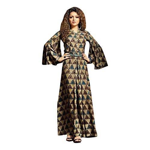 ETHNIC EMPORIUM Robe longue pour femme Bollywood Kaftan Maxi Tunique Salwar Anzug Muslim 929 Moyen