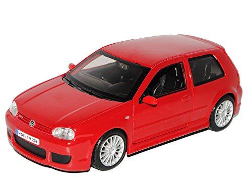 Maisto VW Volkswagen Golf IV 4 R32 Rojo 3 türer 1997-2006 1/24 Coche a Escala Modelo Auto