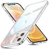 ESR iPhone 12 ケース/iPhone 12 Pro ケース 6.1 inch 2020 新型 ガラスケース 強化ガラス+TPUバンパー 硬度9H 薄型 透明 黄変防止 衝撃吸収 Qi充電対応 iPhone 12/12 Pro 用 カバー – クリア