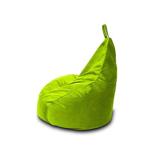 Pouf en polyester type Beanbag pour Gamer, imperméable pour l'extérieur, 90 x 90 cm pistache