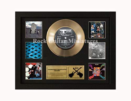 Unbekannt Rock Guitar Miniatures Rgm1441 The Who 24 Gold Disc 7' in Shadowbox Telaio