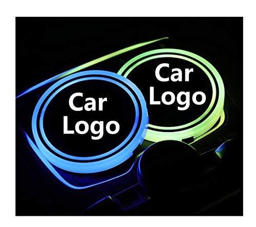 Sottobicchieri per Auto 2x LED Auto Logo Cup Light Compatibile con Jaguar XF F Pace XE XJ F Pace X-tipo Logo Light Light Coaster Bove da bevande Bere B Drequestri Accessori Portabicchieri