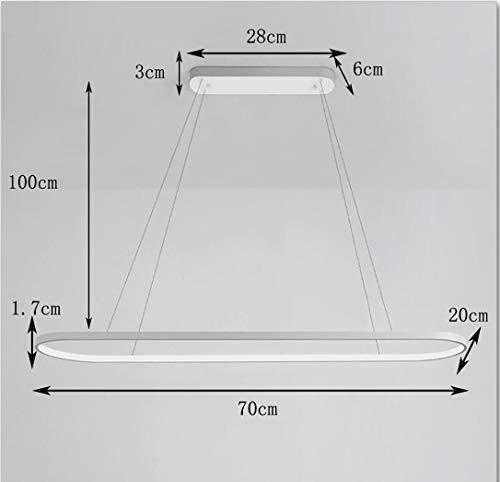 LED Pendelleuchte Kreativ Esszimmer Hängelampe Dimmbar mit Fernbedienung Arbeitszimmer Hängeleuchte Seilzug-Pendelleuchte Acryl-Schatten Schlafzimmer Pendellampe Ø70x20x1.7cm,54W,B