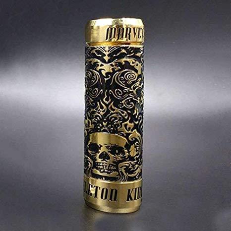 Original Marvec Skeleton King Kong 26mm Mechanical Mod 510 Thread fit 18650 20700 21700 Battery Mech Mod (brass)