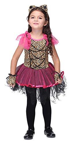Meisjes Luipaard Cheetah Dier Kat Halloween Kostuums Kinderen Rol Speel Cosplay Jurk