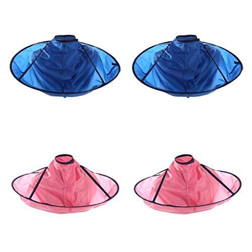 Milageto Capa de Corte de Pelo DIY de 4 Piezas para Peluquería para Adultos, Kit de Peluquería, Peluquería de Salón