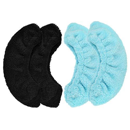 BESPORTBLE 2 Paar Kinder Schlittschuh Klinge Deckt Elastische Hockey Schlittschuhe Wachen Plüsch Wasser Absorption Handtuch für Eishockey Schlittschuhzubehör