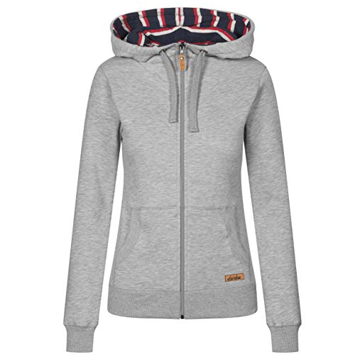 derbe Damen Sweatjacke Easy grau Melange - M