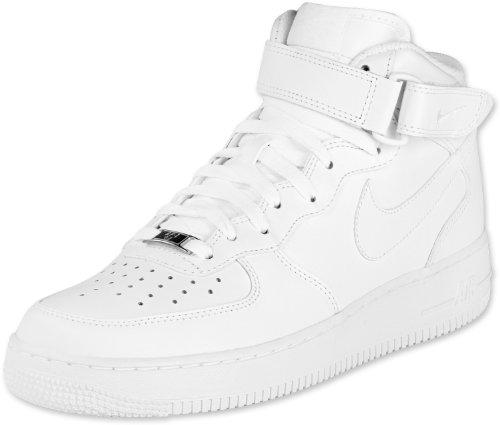 Nike Air Force 1 Mid 07, Baskets Basses Homme, Blanc, 44 EU