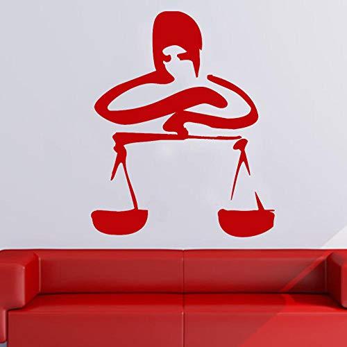 Meest populaire Weegschaal Muursticker Woonkamer Slaapbank Achtergrond Een Vrouw Draagweegschaal Muursticker Vinyl Verwijderbaar Behang 59cm X 70cm