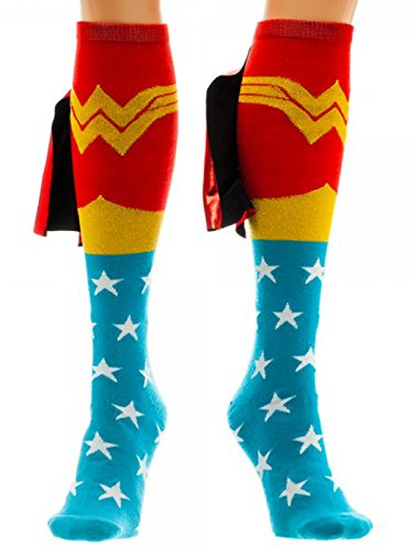 DC Comics Wonder Woman Knee High Shiny Caped Socks
