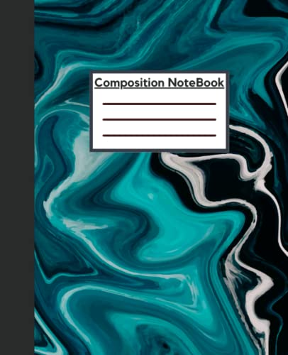 Abstract Liquid Marble inkscape art Composition Notebook: grey Inkscape Background Composition Notebook wide ruled
