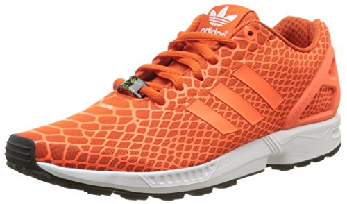 adidas Herren ZX Flux Techfit Low-Top, Orange (Collegiate Orange/Solar Orange/FTWR White), 40 EU