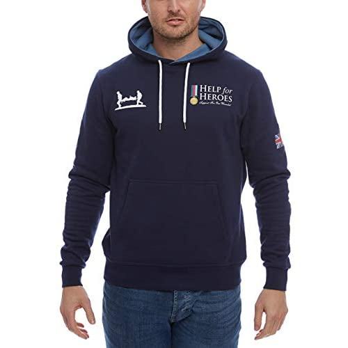 41liNskuqQL. SS500  - Help for Heroes Classic Pullover Hoody Navy