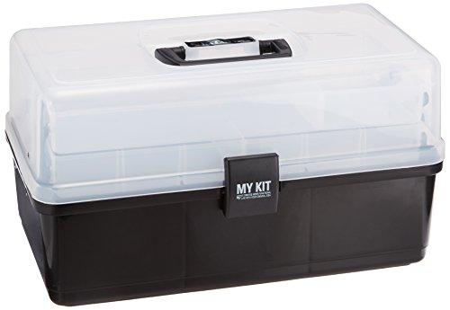 アイリスオーヤマ マイキット 工具収納 工具箱 ケース クリアブラック