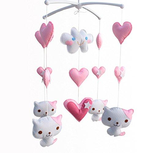 Berceau de lit de bébé rotatif coloré jouets de bébé [Chat doux]
