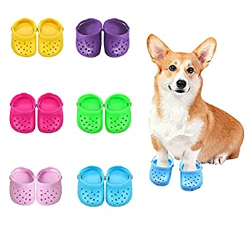TikTok Pet Dog Shoes Breathable Mesh Dog Sandals with Rugged Anti-Slip Sole Lovely Dog Shoes for Small Dogs Adjustable Breathable Comfortable Dog Shoes for Spring and Summer  Bule 4PC