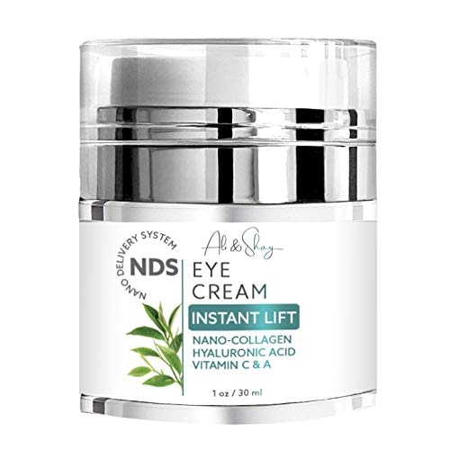ALI & SHAY Instant Lift Eye Cream - Natural & Organic Anti Aging Gel & Under Eyes Skin Creams for Dark Circles, Puffiness, Crows Feet, UnderEye Bags & Wrinkles w/ Nanotechnology, Nano Collagen, MSM, R