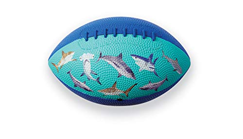 """Crocodile Creek - Sharks - Kids Rubber Football, 8"""", for Ages 3 & Up"""