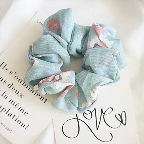 TSP Bandas elásticas para el pelo con estampado elegante para mujer, con diseño de flores, para coletas, bandas de goma, accesorios para el cabello para señora (color: 3)