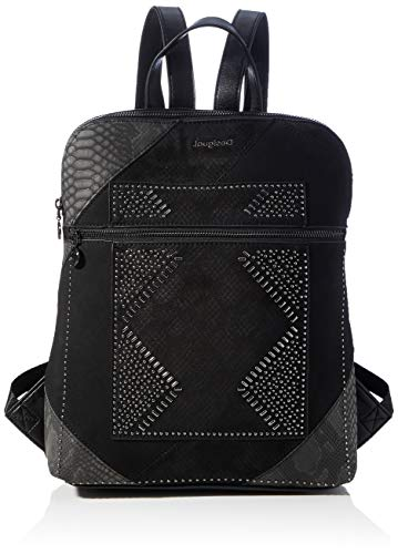 Desigual Accessories PU Backpack Medium, Mochila. para Mujer, Negro, U