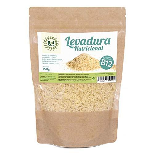Levadura nutricional con vitamina B12 Sol Natural 150g