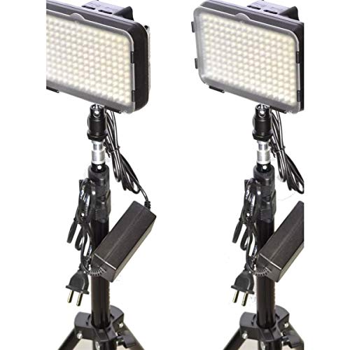 Bescor Single LED144 Studio Light Kit with LS180 Air Cushioned Light Stand and AC180 Power Supply
