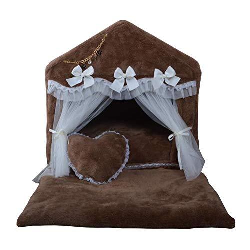 Hundebett Tragbares Pet Princess Zimmer - Große Schaumstoffbetten für Hunde Und Katzen für Den Innenbereich - Rutschfeste Unterlage - Abnehmbar - Leicht Zu Reinigen