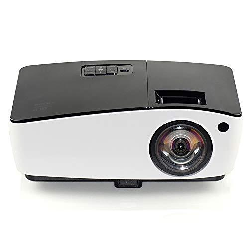 Proyector DLP HD1080p 4000 lúmenes Enfoque Ultra Corto 300 Pulgadas Adecuado para la Oficina de Cine en casa Fiesta Enseñanza Teléfono móvil Compatible PC