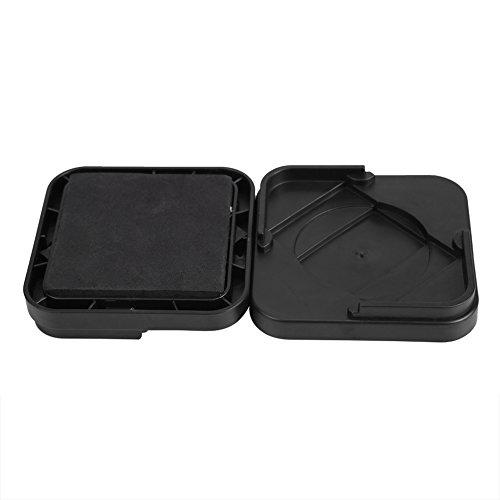 Fockety Almohadillas para Muebles de 3,35 x 3,35 x 0,79 Pulgadas, Tazas cuadradas Antideslizantes para Muebles, plástico para Silla, sofá, Escritorio(Black)
