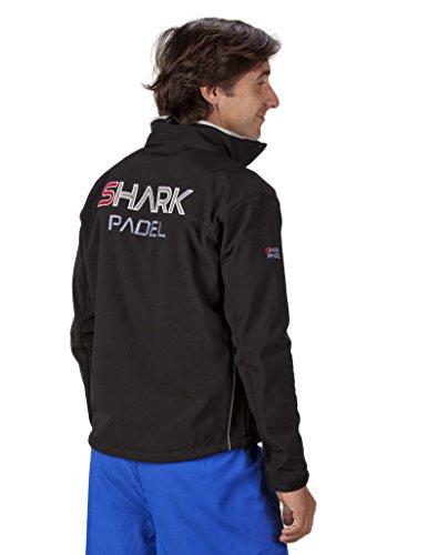 Chaqueta Soft Shell transpirable cortaviento impermeable Shark Padel (negro, M)