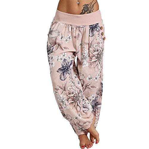 N\P Pantalones de mujer con estampado casual hippie Joggers Pantalones sueltos Aladdin Lantern