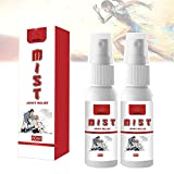 QAZX 2Pcs 60ml Joint Relief Herbal Mist, Instant Herbal Painrelief Oil Spray, Joint Gout Spray, Natural Pain Reliever Spray, Fast Relief of Sore Muscle Pain, Sport Injuries, Muscle Pain