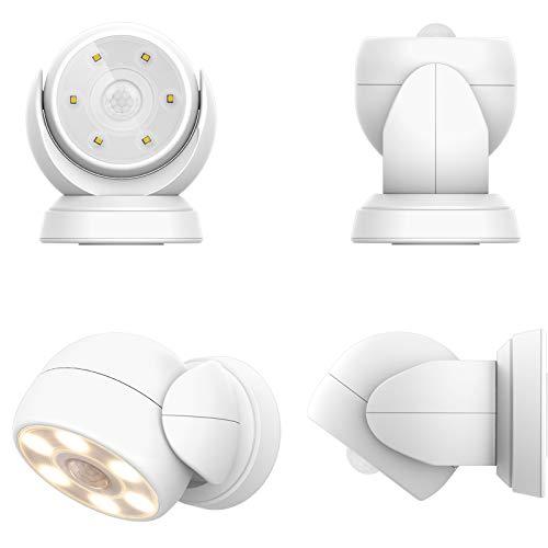 HONWELL LED Strahler mit Bewegungsmelder Außen Innen Kabellos Außenleuchte mit Bewegungsmelder Wasserdicht Batterie Aussenstrahler Wandleuchte Sicherheitslicht für Garten Türöffnung Korridor
