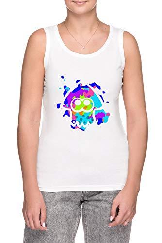 Erido Splatoon Calamar - Camiseta de tirantes para mujer, color blanco blanco L