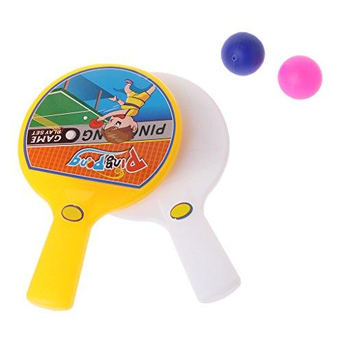 Karrychen Portable Mini Table Tennis Racket with 2 Ping Pong Bats Balls Kids Children Toy