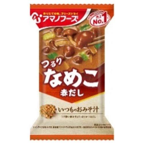 アマノフーズ フリーズドライ いつものおみそ汁 なめこ(赤だし) 10食×6箱入×(2ケース)