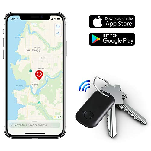 Moupa Key Finder Smart Tracker Item Finder Phone Finder Bluetooth Smart Tag-Black