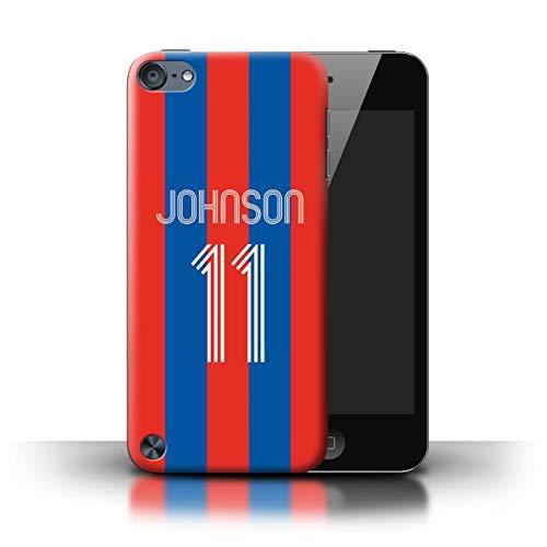 Personalizzato Kit Camicia Club Calcio Personalizzare Custodia/Cover per Apple iPod Touch 5 / Strisce Blu Rosse Design/Iniziale/Nome/Testo Caso/Cassa