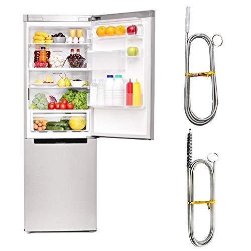 dewdropy - Kit de cepillo de limpieza para cepillo de limpieza de refrigerador flexible para manguera de desagüe de cocina en casa, 90 cm, 2 unidades